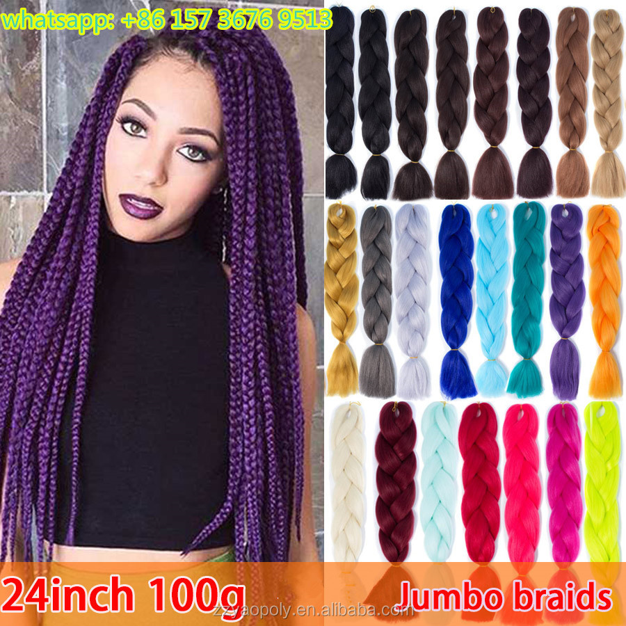 wholesale 24 inch 100g super jumbo box braids crochet twist synthetic hair for braiding