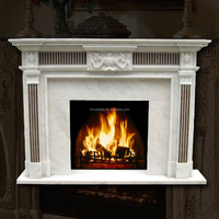 2015 High Quality Home Decor White Marble Electric Fireplace Parts VSM-045
