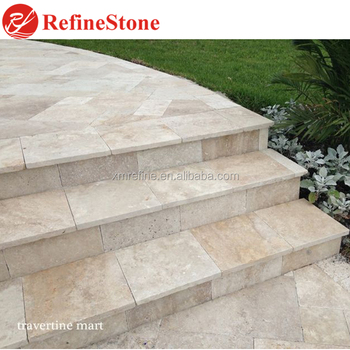 Superior Travertine Stairs And Step,High Quality Beige Travertine Marble Steps