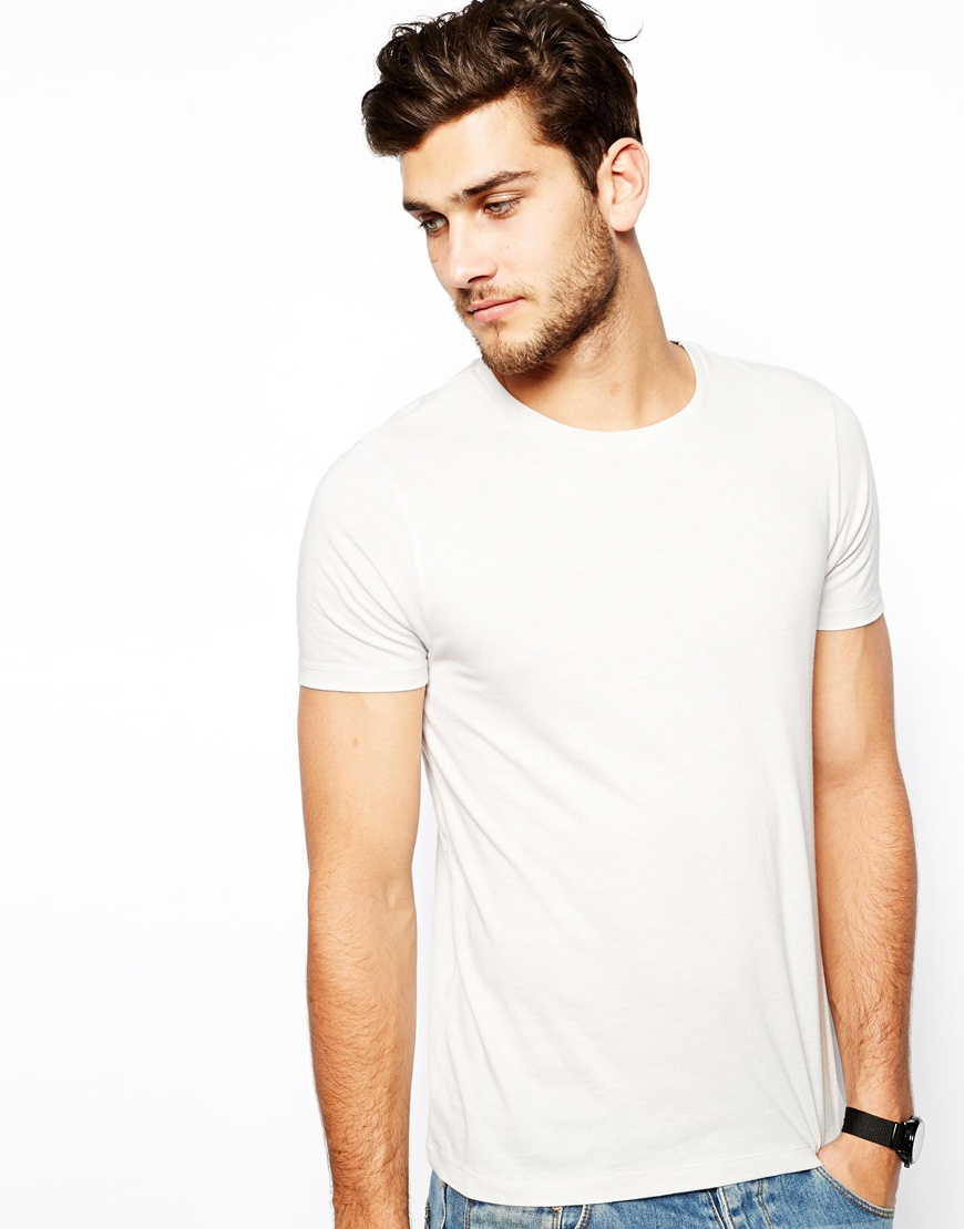 Men White Blank Fitted T-shirt 100% Cotton Wholesale