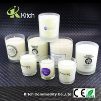 Glass jar pillar luxury custom scented candle