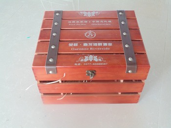 High-end six red wine box manufacturers direct sales