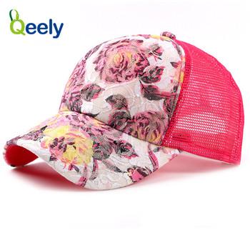 Qeely Women Summer Trucker Hat No Mesh af7095fea