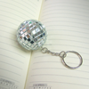 Best sell new design mirror disco ball innovative mobile keychain