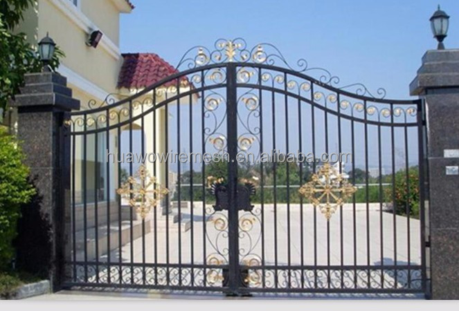 Beautiful wrought iron gate and fence designs