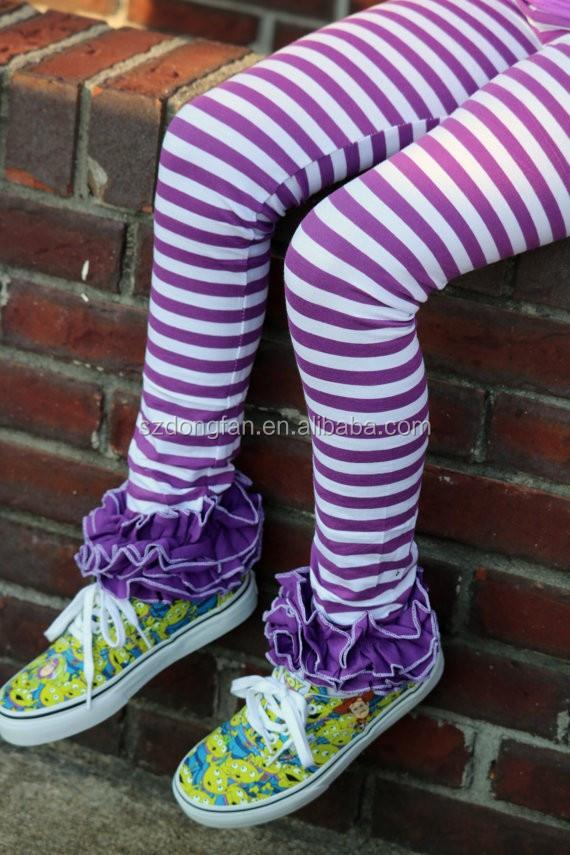 Toddler Girls 95% Cotton 5% Spandex Icing Legging Purple And White Striped Pants Buy Girls 95% Cotton 5% Spandex Icing Legging,Ruffle Icing