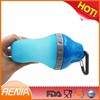 RENJIA silicone collapsable pet bottle Kettle with Removable Cup for Dogs Cats Travel Pet Canteen