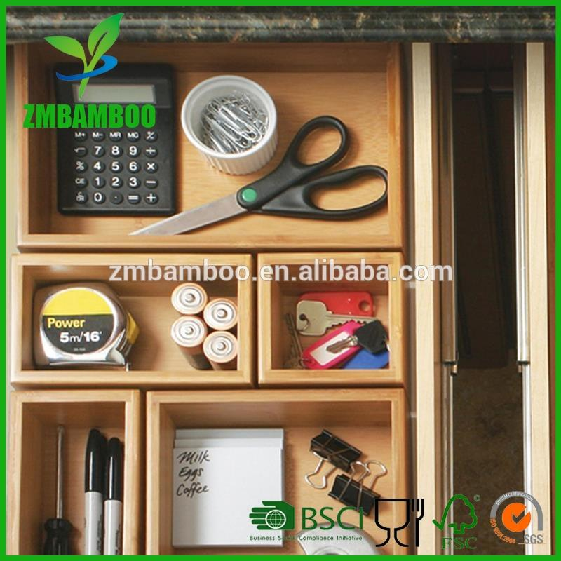 Individual Bamboo Drawer Organizer Boxes Conveniently