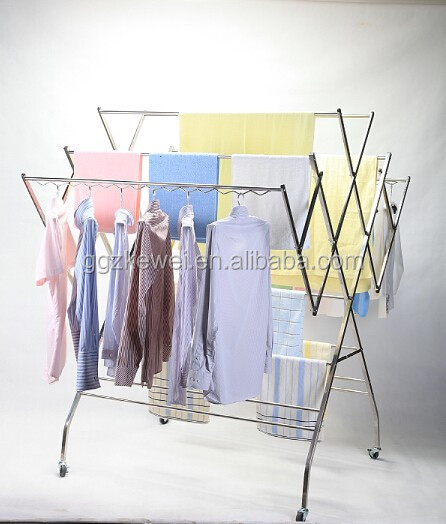 Multifunctional Stainless Steel Clothes Drying Rack Hanging Cloth Dryer Wf 001 Malaysia