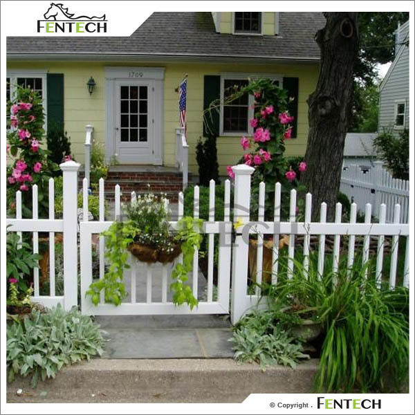 Elegant White Color Cheap Yard Gates Fence Gate
