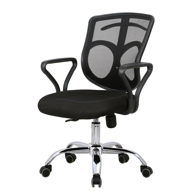 Chrome plated swivel office and chairs with castor computer chair