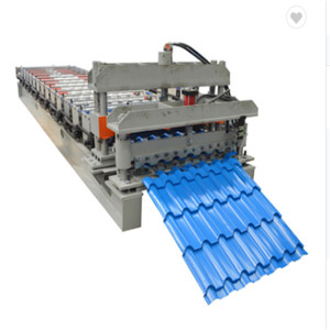 South Africa glazing sheet roll forming machine/iron step tiles making line