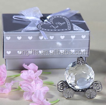 Wholesale Crystal Pumpkin Coach Favors Crystal Carriage Baby