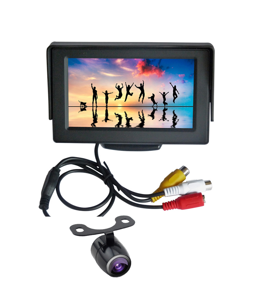 CE RoHS Parking System 4.3 inch LCD Monitor Reverse Camera Car Kit