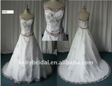 2012 Decolated with Applique,For Simple bridal wedding dress