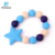 Kunshan Blue Five-Pointed Star Wrist Band Silicone Bead Bracelet