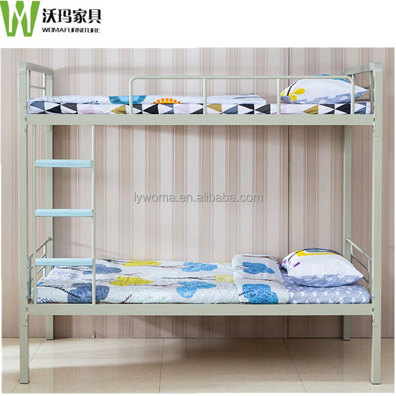 Double decker metal bunk beds / easy assembly steel double bunk beds
