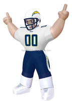 Giant NFL San Diego Chargers Standing Inflatable football Player, Inflatable Bubba Player for sale
