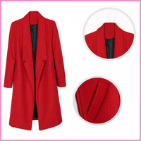 factory wholesale full length lady long coat trench design,many color trench coat