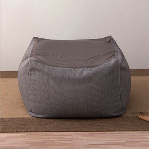 Gray Lazy chair cover Bean Bag Lounge Chair Covers Outdoor Bean Bags