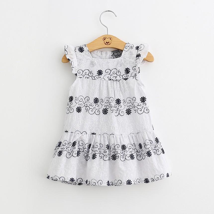 877f7a51f112 Bsd1127 2017 Wholesale Girls Flutter Sleeve Print Cotton Summer Baby ...