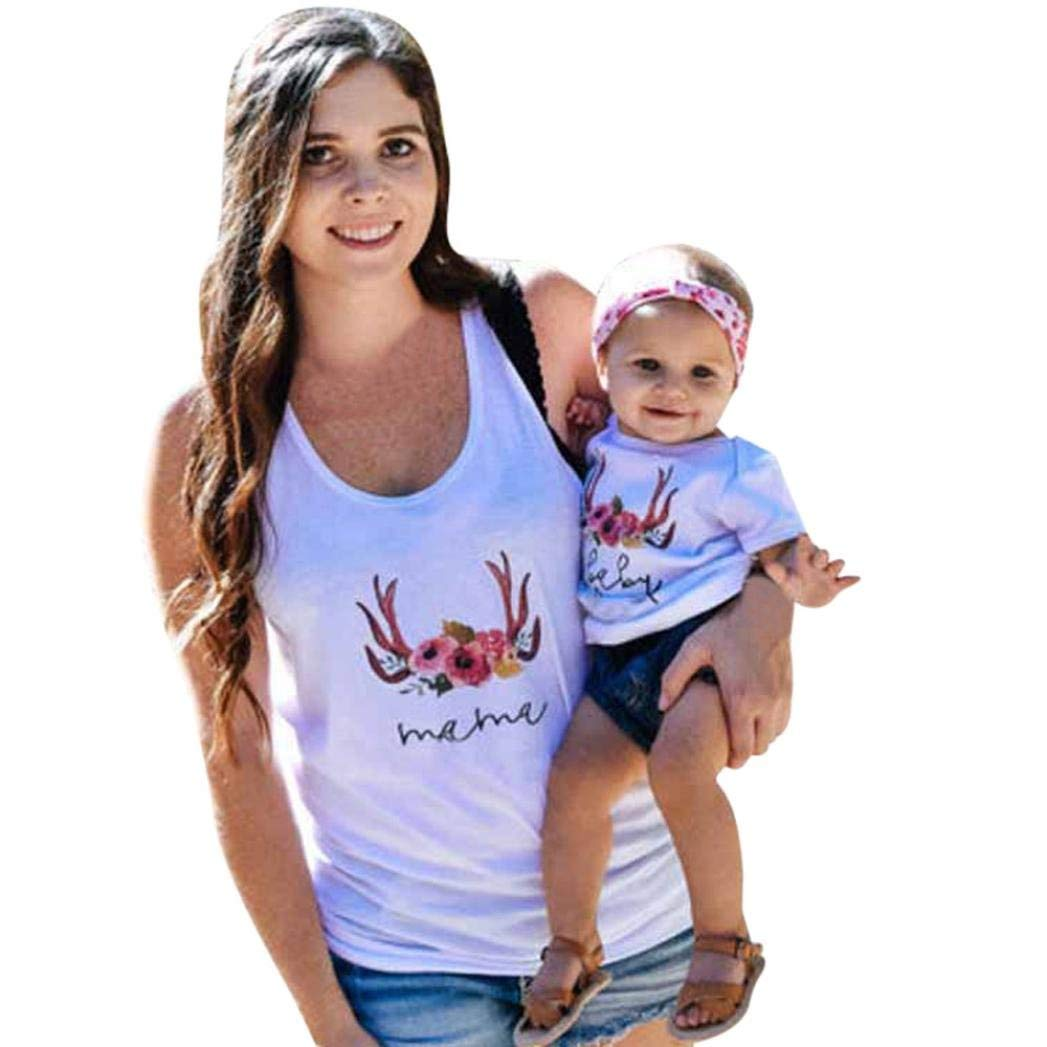 Appoi Mommy and Me,Mom&Me Matching Shirts for Mom and Son Baby Girls Boys Letter Tops Blous T-Shirt Family Outfits Clothes