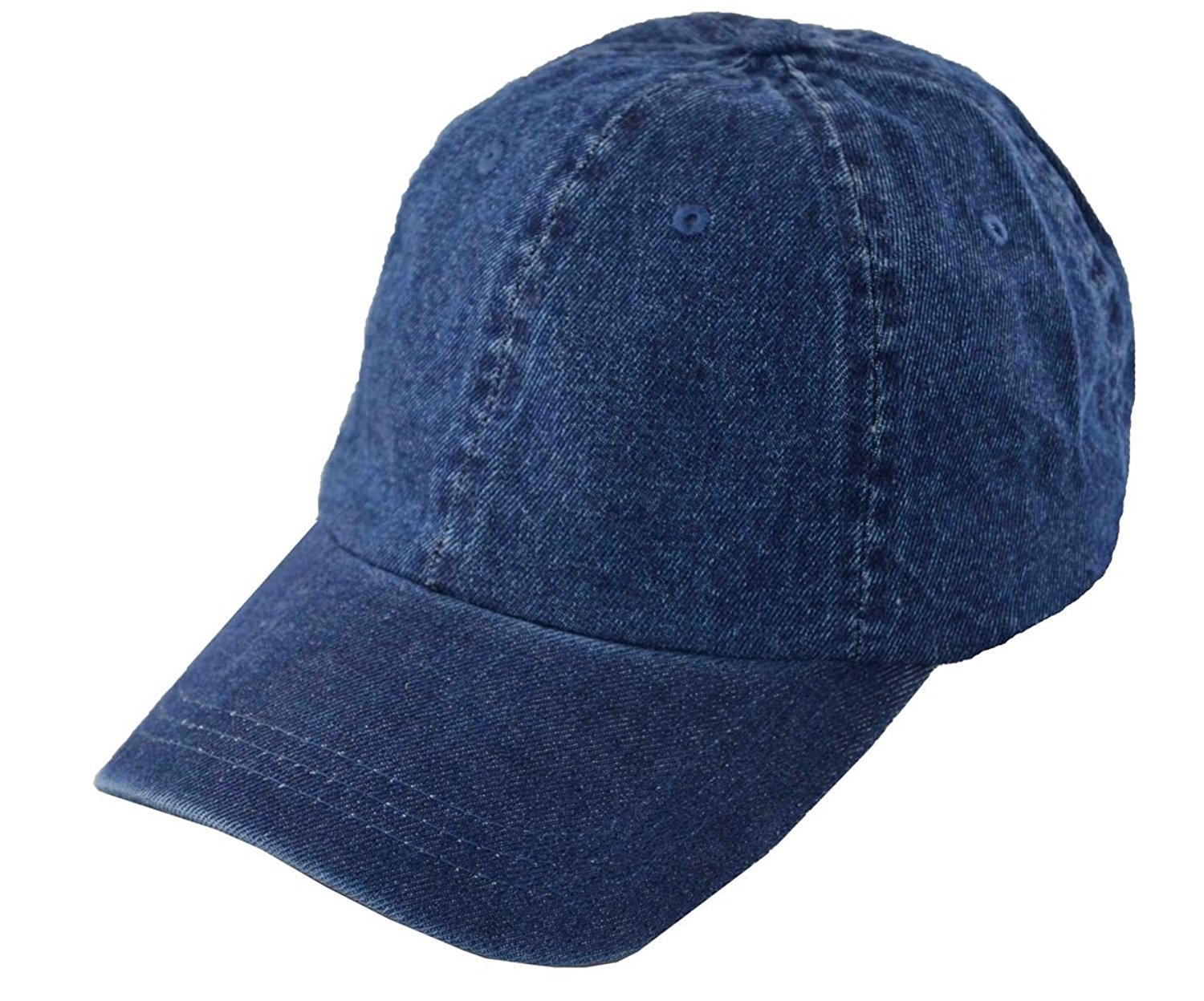 G Men's Polo Style Adjustable Unstructured Low-profile Baseball Cap Denim Jean