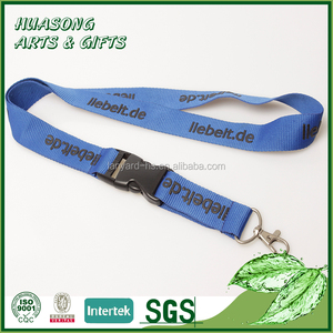 Promotional customized detachable polyester foam printing neck strap lanyard long key lanyard