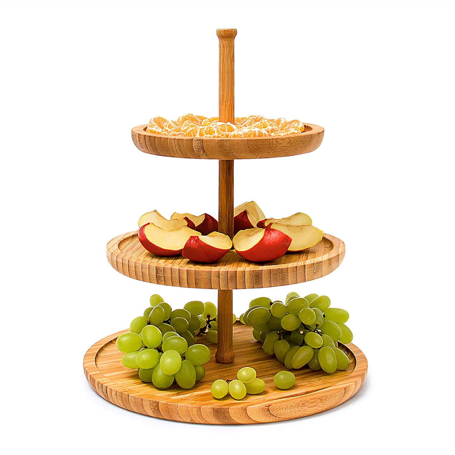 Wholesale 3 Tier Round Plate Tray Serving Dish Tray Platter
