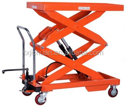 Foldable Hand Trolley Manual Small Platform Lift mini Scissor Lift