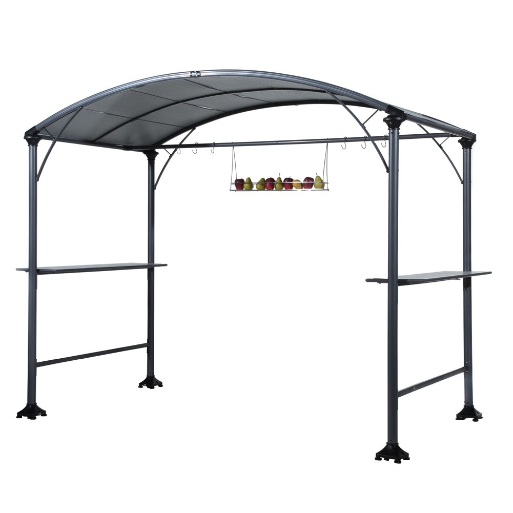 Abba Patio 9u0027 X 5u0027 Outdoor Backyard BBQ Grill Gazebo With Steel Canopy,  Gray. 599.0. Living Accents Gazebo Mosquito Netting
