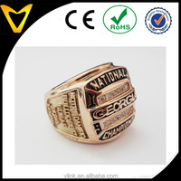 2016 new design high quality rose gold 1980 champion ring replica China manufacture direct Custom design champion ship ring
