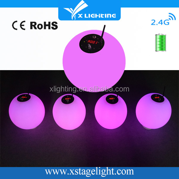 Hot sale led kinetic wireless battery lifting color ball changing mood led light ball