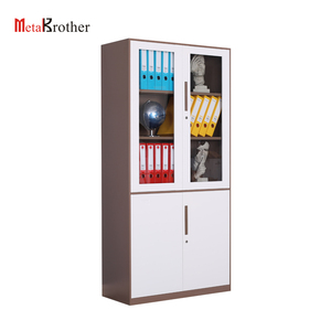 2019 Modern Glass Door Display Safe File Cabinet With Lock Metal Narrow Edge Filing Storage Cabinet Wholesale Office Equipment