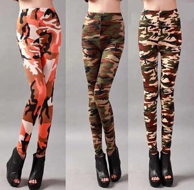 2016 New Arrival Fashion Military Pants Women Camouflage Leggings