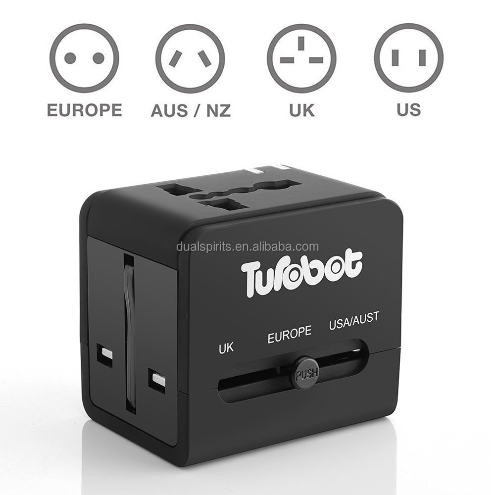 Universal Electrical Plug Adapter EU/US/UK/AU Plug Adapter 2 Usb supplier