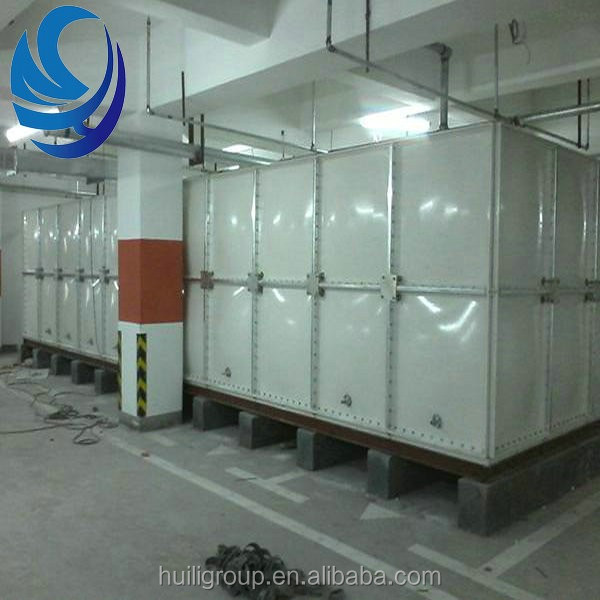 FRP GRP SMC Panel Sectional Water Storage tanks For water treatment