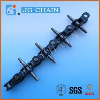 lh1034 alloy steel forklift truck chain heat treatment lh series lifting bl534 leaf chain