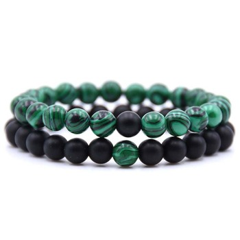 AP21560 Wholesale custom gem stone bead luxury bracelet set jewelry for men dropshipping