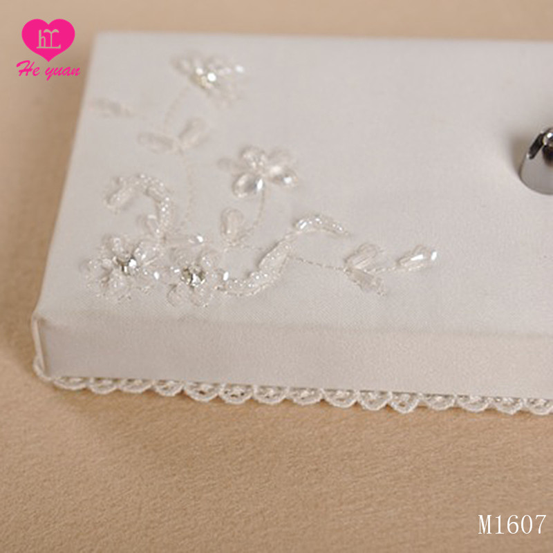 M1607  Wholesale Lace Bridal Wedding accessories guest book pen holder