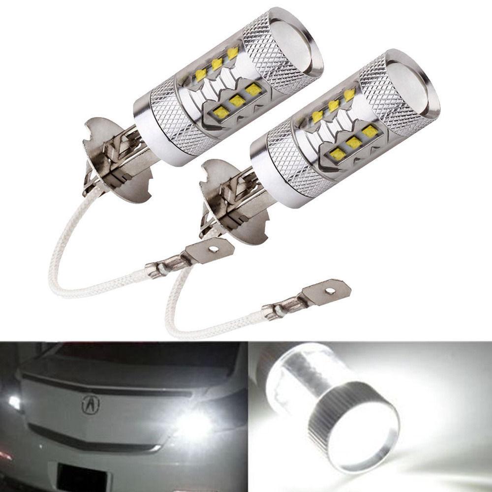 2 X H1 Car LED Fog Lamp Cree XBD 80W White Daytime Running Light Driving Bulbs