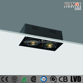 trimless recessed down light mr16 2x50w buy trimless mr16 2x50w