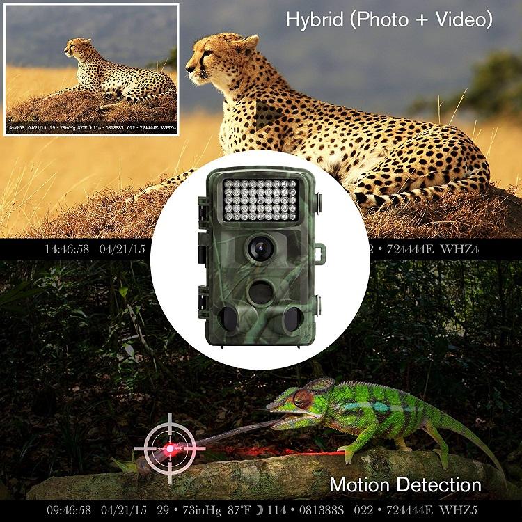 5.0 Mega Piksel CMOS Sensörü Toptan Avcılık iz kamera HT02
