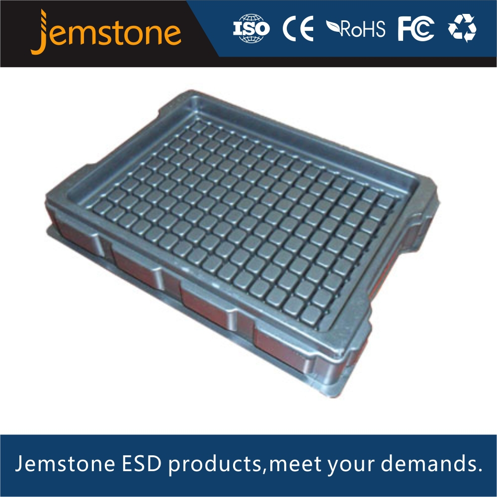 Shenzhen plastic esd packaging tray for electronics