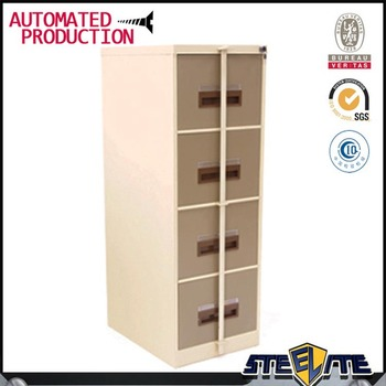 Modern Design Advanced Knocked Down Structure White Color Locking Bar  Cabinet 4 Drawer File Cabinet