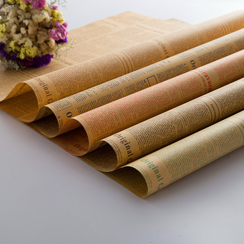 Gift Wrap Company Wholesale Newspaper Kraft Paper Sheets For Flower