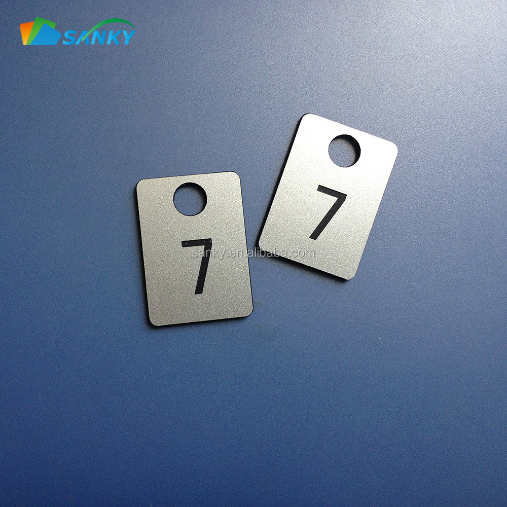 Abs Plastic Number Locker Key Tags