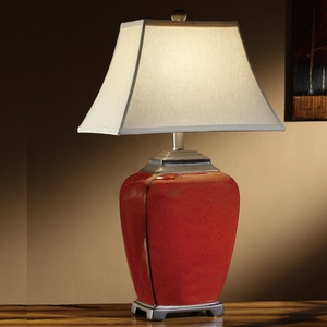 wholesale decorate bedside red Chinese ceramic table lamps