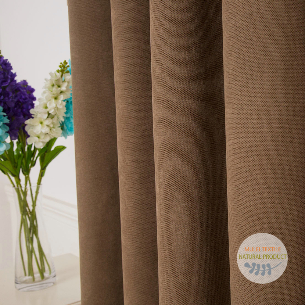 Hot sale 100% polyester cheap modern heavy blackout curtains fabric