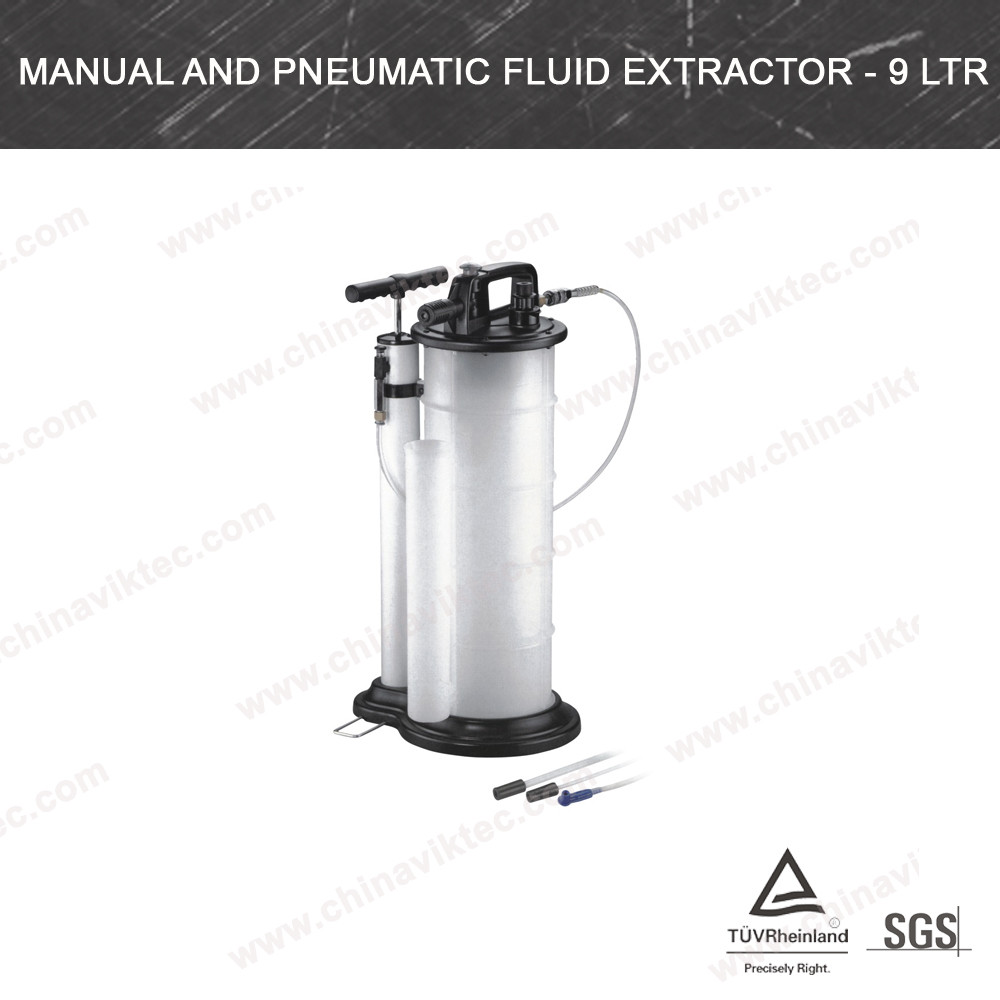 Manual And Pneumatic Fluid Extractor - 9 Ltr(VT01379)